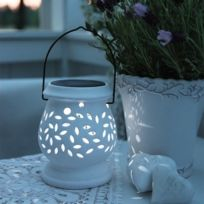 Star - Lanterne solaire Clay Blanche