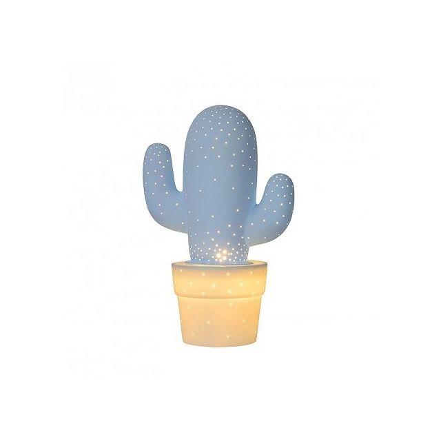 Lucide - Lampe Cactus H30 cm - Bleu 20cm x 20cm x 30.5cm
