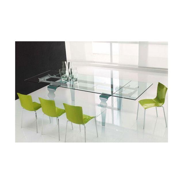 Cosytendance Table Salle à Manger Verre Cristal 150210 90 75 Cm