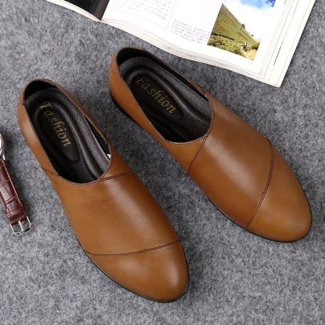 Chaussures Chaussure tout,aller confortable et en cuir souple pour hommes  Couleur Marron Taille 45