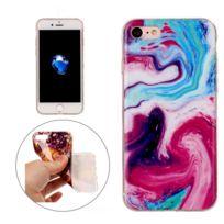 Wewoo - Coque pour le cas de protection Tpu coloré de modèle de marbre d'iPhone7