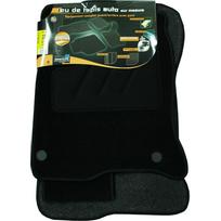 Topcar - 3 Tapis de sol semi-mesure pour Renault Laguna 3, noirs pour fixations d'origine attaches non fournies Arcoll 019504