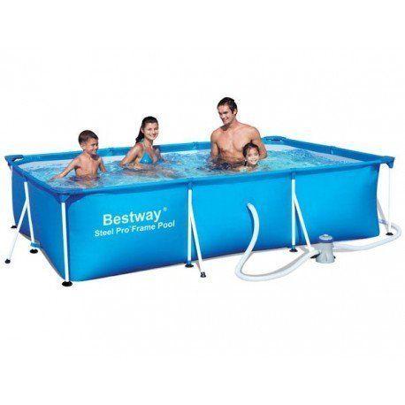 bestway piscine tubulaire rectangulaire deluxe splash. Black Bedroom Furniture Sets. Home Design Ideas