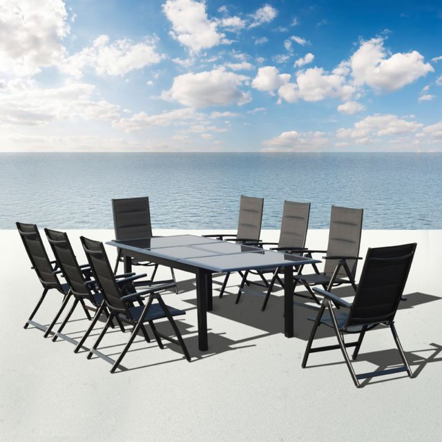 Sunrise - Salon De Jardin Aluminium Monaco - Pas Cher Achat / Vente Ensembles Tables Et Chaises ...