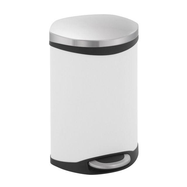 Eko Poubelle Shell Bin 10L Blanc
