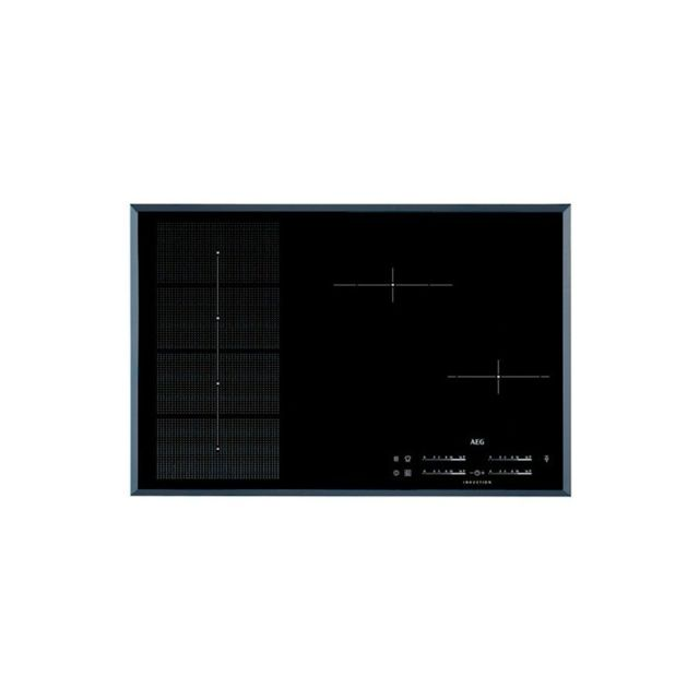 aeg plaque induction 218297 949 597 090 7400w 80 cm noir achat plaque de cuisson nc. Black Bedroom Furniture Sets. Home Design Ideas