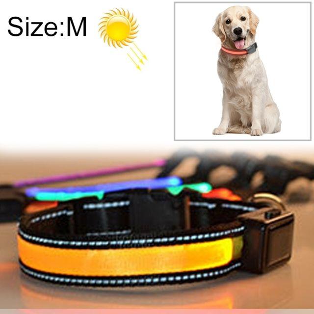 Wewoo Collier de lumière Led de charge pour animal de compagnie solaire et grand pour animaux de compagnie, solaire, tour de c