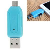 Wewoo - Adaptateur Lecteur de cartes Otg T-flash / Sd U-disque de données micro-USB