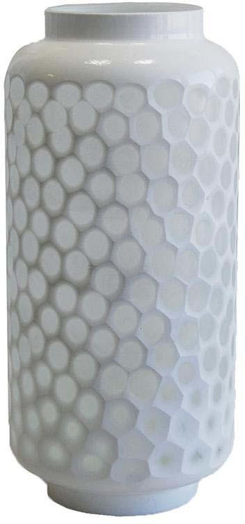 Vase nid d'abeille en verre teinté