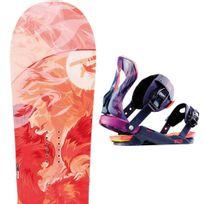 Rossignol - Justice Magtek Snowboard + Justice S/m Fixations