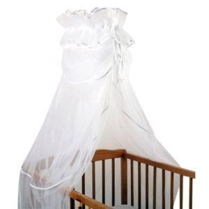 sevira kids ciel de lit ou berceau moustiquaire en tulle xxl royal blanc pas cher achat. Black Bedroom Furniture Sets. Home Design Ideas