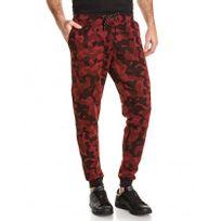 BLZ Jeans - Pantalon de survetement rouge camouflage homme