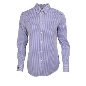 ralph lauren chemise ray e h ritage bleu et blanche pour femme 8 pas cher achat vente. Black Bedroom Furniture Sets. Home Design Ideas