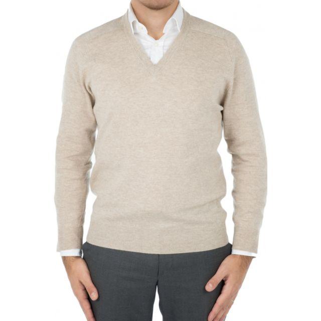 Bruce Field - Pull homme col V en cachemire et laine - pas cher ... 941b82bd9d41