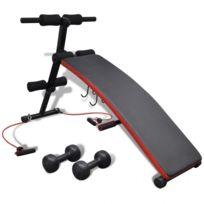 Autre - Banc de musculation multifonctionnels réglable avec 3 kg haltères sport fitness musculation 0702049