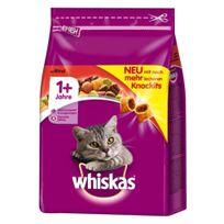 Whiskas - Croquettes +1 au Bœuf pour Chat - 3,8Kg