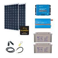 Myshop-solaire - Kit solaire 600w autonome + convertisseur 230v/800va