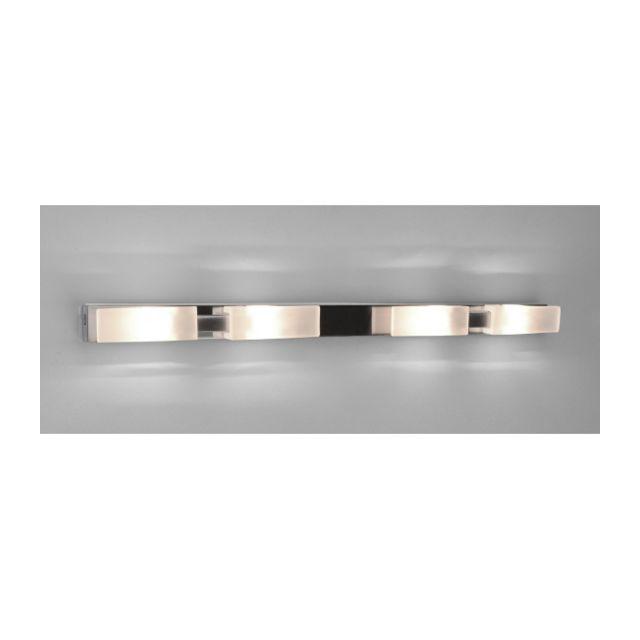 Luminaire Center Plafonnier Arco 4 Ampoules G9, nickel satiné hauteur 5 Cm