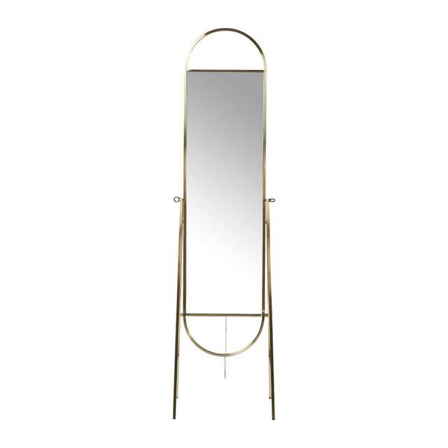 Karedesign Miroir sur pied Casino laiton Kare Design