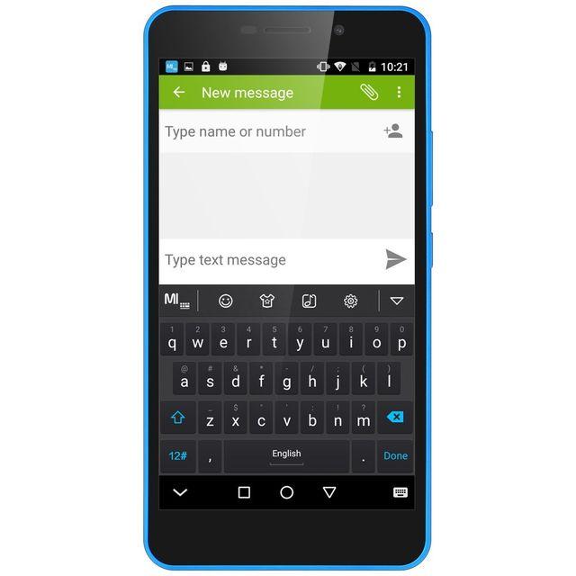 Auto-hightech Smartphone 5.5 pouce quad core Android 6.0 4G avec empreinte Digitale - Blanc