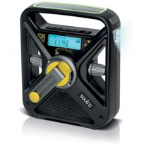 Soulra - Radio Frx3 Noir recharge manivelle & Usb