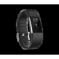 FITBIT - Charge 2 Argent - Bracelet Noir Taille L