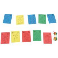House Of Kids - lot de 10 chiffres a lacer en eva mousse + 10 lacets