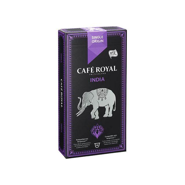 CafÉ Royal Capsules de café India - Boîte de 10