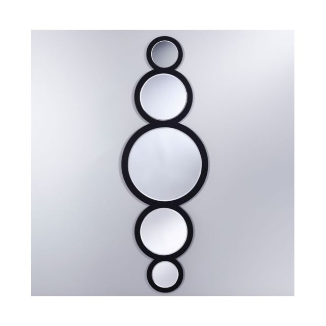 Deknudt Mirrors Miroir Circle Modern Rectangulaire Noir 45x144 cm