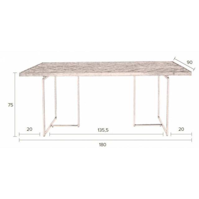 Inside 75 - Dutchbone Table repas Class en acacia Marron - 180cm x 75cm