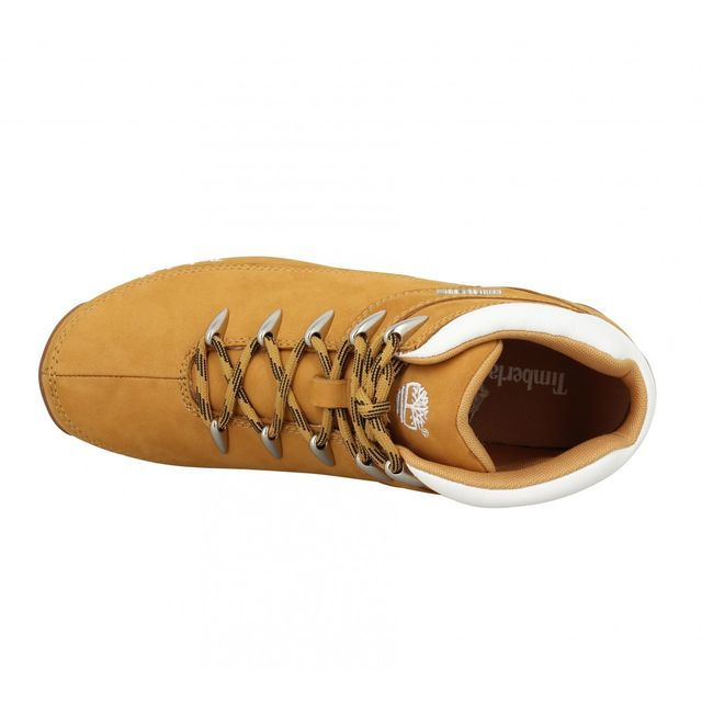 Timberland - Euro Sprint velours Homme-41,5-Ocre + Blanc Beige