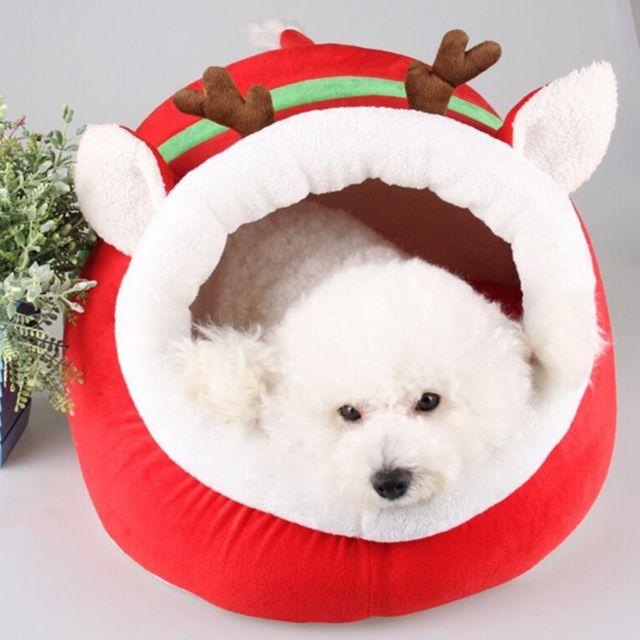 Doux Pet Kennel Renne Mignon Lit Chaud Maison Chat Petit Chien Puppy Maison S