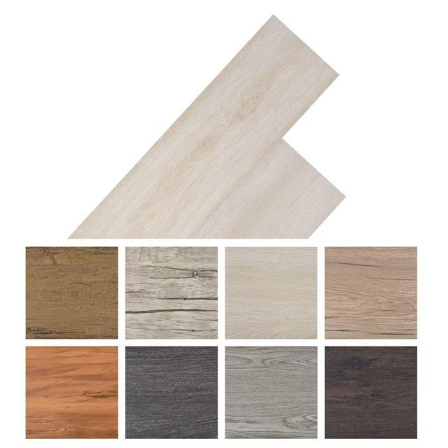 Vidaxl Planche de plancher Pvc autoadhésif 36 pcs 5,02 m² Marron clair   Brun