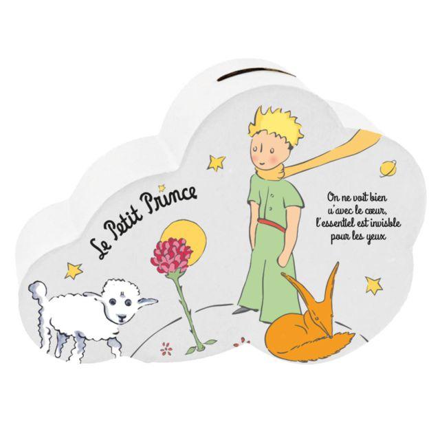 Le Petit Prince Tirelire Petit Prince nuage et Mouton en céramique