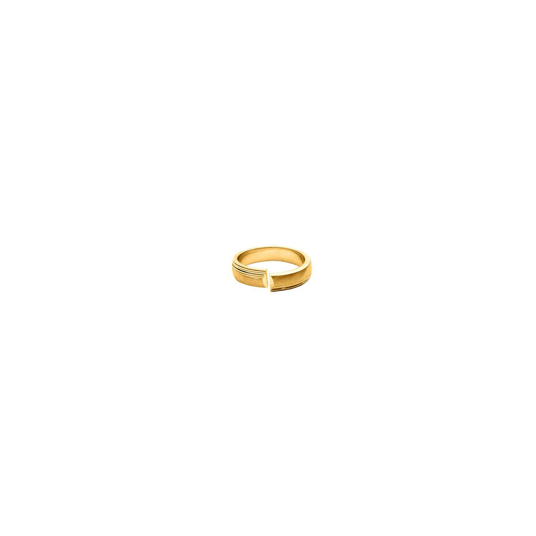 1001BIJOUX- Alliance vermeil anneau 5mm ouvert mat et brillant - Plaqué or 74b3f9ab056c