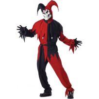 California costume - Costume Monstre Bouffon Noir et Rouge