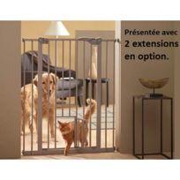 Savic - Barrière de porte pour chien H. 107 cm + chatière