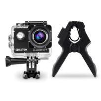 Beatfoxx - Ac-6000WiFi 4K caméra d'action + support spécial FlexClamp