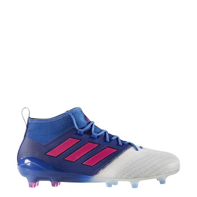 Adidas - Chaussures adidas Ace 17.1 Primeknit. Couleur   bleu blanc rose 76fb3e4f3c80