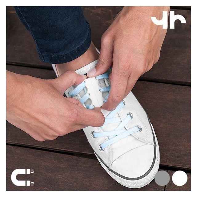 Totalcadeau Fermetures aimantées pour chaussures - Accessoire Couleur - Gris