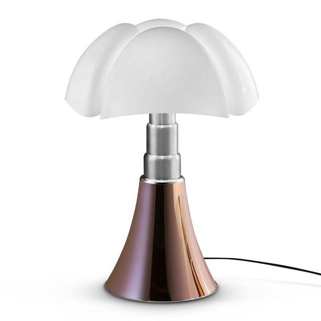 Martinelli Luce Pipistrello - Lampe Cuivre Dimmer Led pied télescopique H66-86cm - Lampe à poser designé par Gae Aulenti