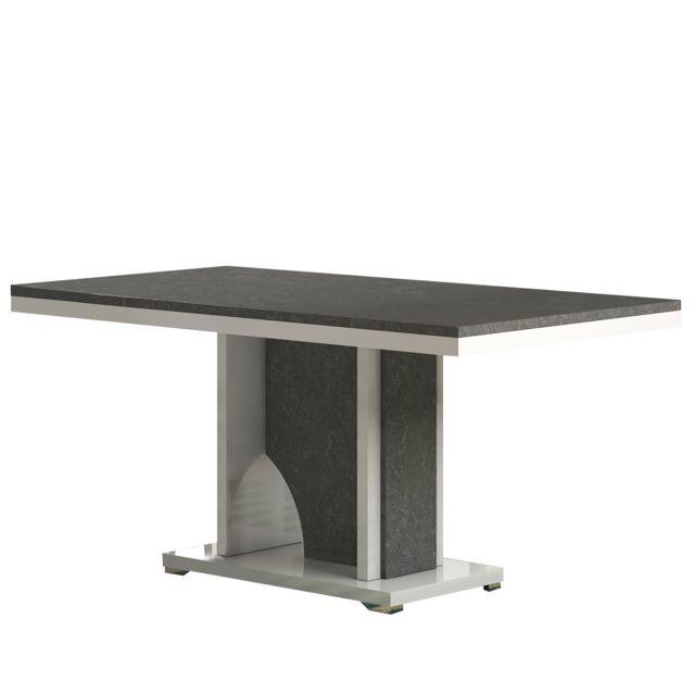 Altobuy Lizea - Table de Séjour Rectangulaire avec Pied Central