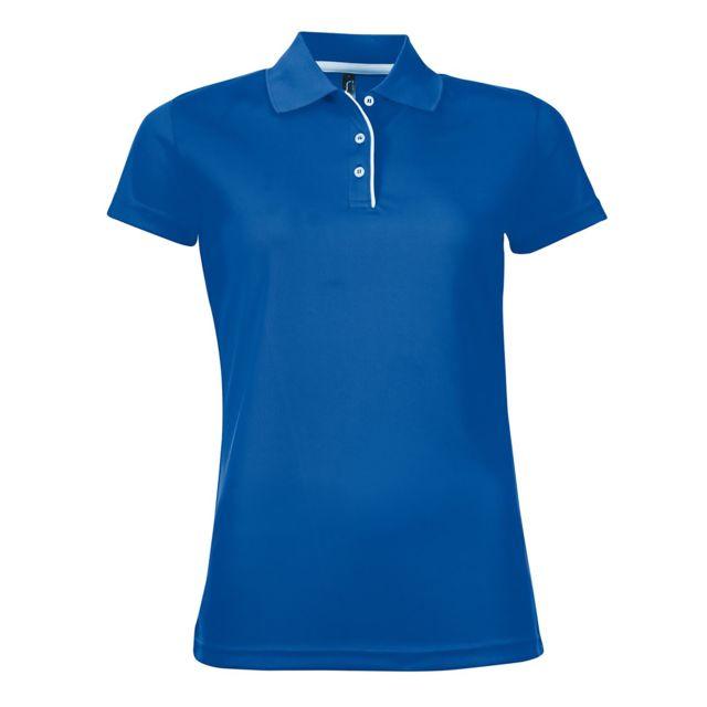 SOL Sols Performer - Polo à manches courtes - Femme 2XL, Bleu roi Utpc2161