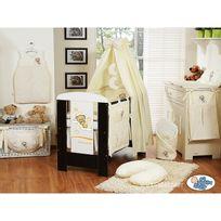 Autre - Lit et Parure de lit bébé bonne nuit crème ciel de lit coton 120 60