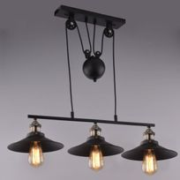 Kosilum - Lampe industrielle suspension - Triple Piattino