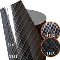 Foliatec - Film interieur Carbone Anthracite Brillant 3141 Autocollant - Thermoformable
