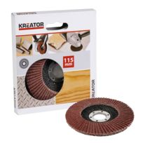 Kreator - Disque à lamelle corindon - grain 40 - Ø 115 mm