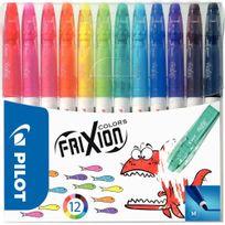 Frixion - feutres d'écriture colors assortis - pochette de 12
