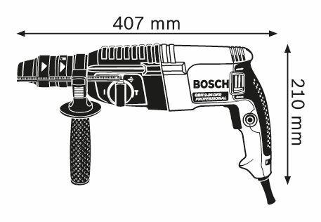 Perforateur SDS-plus GBH 2-26 Professional - 830W 2.7J - Avec coffret et poignée - 06112A3000