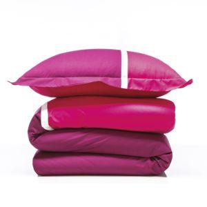 tex home parure tricolor housse de couette 2 taies d 39 oreiller en coton pas cher achat. Black Bedroom Furniture Sets. Home Design Ideas
